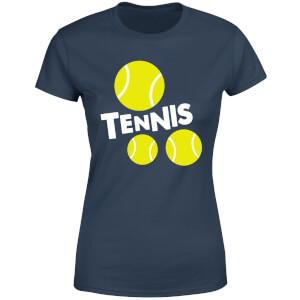 Tennis Balls Women's T-Shirt - Navy