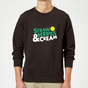 Strawberries and Cream Sweatshirt - Black