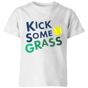 Kick Some Grass Kids' T-Shirt - White