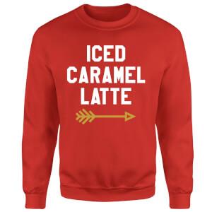 Iced Caramel Latte Sweatshirt - Red