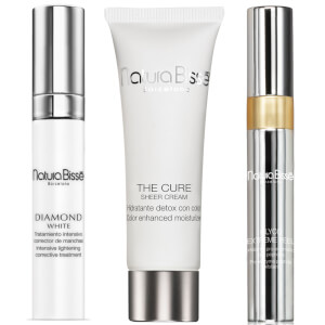 Natura Bisse Diamond White Serum, The Cure Sheer Cream and Glyco Extreme Peel (Free Gift)