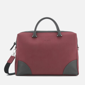 Ted Baker Men's Matcher Nubuck Document Bag - Red