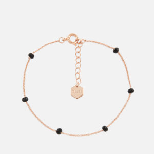 Cluse Women's Essentielle Black Crystals Chain Bracelet - Rose Gold