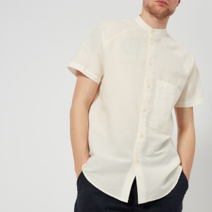YMC Men's Grandad Collar Sunday Shirt - Ecru