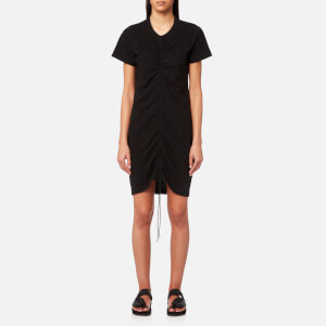T by Alexander Wang Women's High Twist Dress With Gathered Front - Black