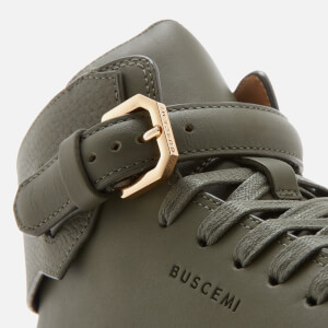 Buscemi Men's 100mm Clean Buckle Trainers - Military: Image 6