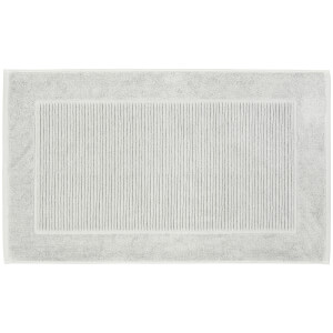 Christy Pedestal Bath Mat - Silver