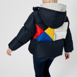 Tommy Hilfiger Women's Ivan Colourblock Super Down Jacket - Peacoat Multi