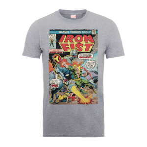 Marvel Comics Iron Fist Atomic Man Men's Grey T-Shirt