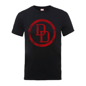 Marvel Comics Daredevil Distressed Circle Logo Men's Black T-Shirt