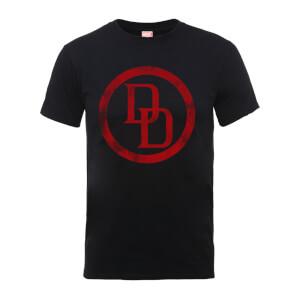 T-Shirt Homme Logo Cercle Abîmé Daredevil - Marvel Comics - Noir