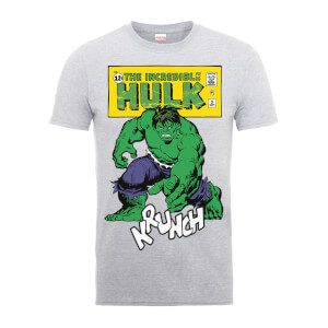 T-Shirt Homme Krunch Abîmé - Incroyable Hulk - Marvel Comics - Gris