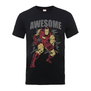 T-Shirt Marvel Comics Iron Man Awesome Black - Uomo