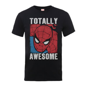 "Camiseta Marvel Comics Spiderman ""Totally Awesome"" - Hombre - Negro"