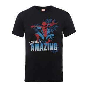 T-Shirt Marvel Comics Spider-Man Totally Amazing Black - Uomo