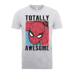 T-Shirt Homme Totally Awesome - Spider Man - Marvel Comics - Gris