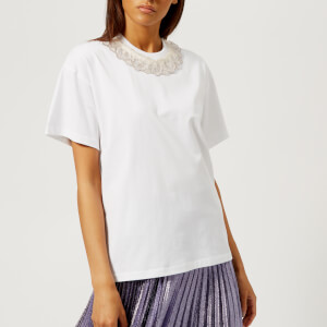 Christopher Kane Women's Ruffle Trim T-Shirt - White