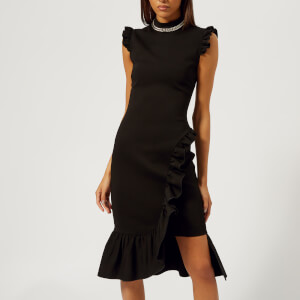Christopher Kane Women's Bodycon Frill Dress - Black