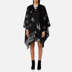 McQ Alexander McQueen Women's Swallow Poncho - Darkest Black
