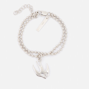 McQ Alexander McQueen Women's Swallow Bracelet - Shiny Nickel