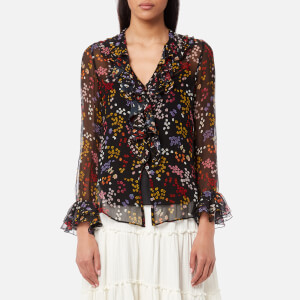 See By Chloé Women's Floral Nights Blouse - Black Multi