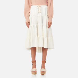 See By Chloé Women's Embellished Cheesecloth Skirt - White Powder