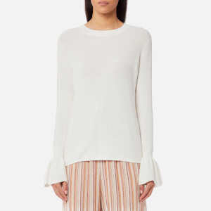 See By Chloé Women's Scalloped Knitted Jumper - Snow White