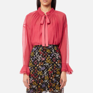 See By Chloé Women's Light Crepon Blouse - Raspberry Sorbet