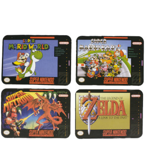 Super Nintendo Entertainment System Coasters (Set of 4)