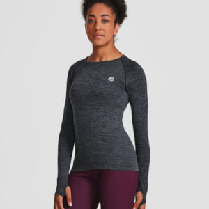 M - Seamless Long Sleeve Top - Black