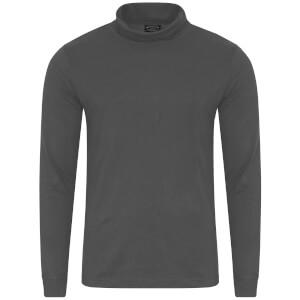 Kensington Eastside Men's Denbigh Roll Neck Long Sleeve Top - Asphalt Grey