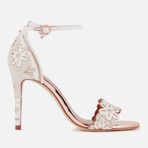 Ted Baker Women's Cimaa Leather Barely There Heeled Sandals - White