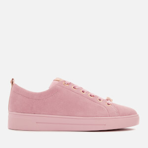 Ted Baker Women's Kelleis Suede Low Top Trainers - Mink Pink