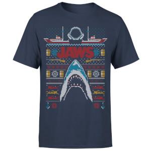 T-Shirt Lo Squalo Fairisle - Blu Navy - Uomo