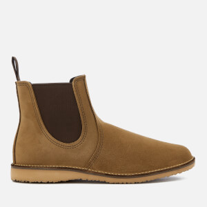 Red Wing Men's Weekender Leather Chelsea Boots - Olive Mohave