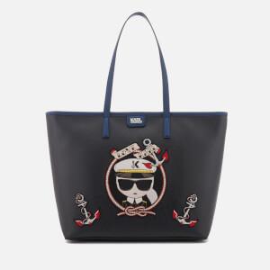 Karl Lagerfeld Women's Captain Karl Shopper Bag - Black