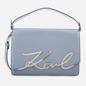 Karl Lagerfeld Women's K/Signature Big Shoulder Bag - Mistic Blue