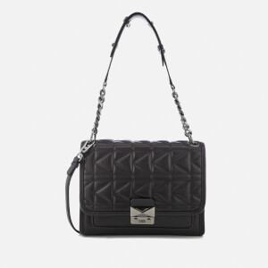 Karl Lagerfeld Women's K/Kuilted Handbag - Black/Gun metal