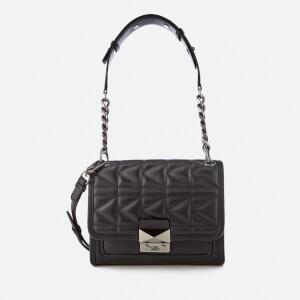 Karl Lagerfeld Women's K/Kuilted Mini Handbag - Black/Gun metal