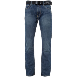 Smith & Jones Men's Borromini Belted Jeans - Stone Wash