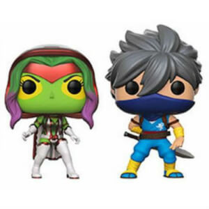 Capcom vs Marvel Gamora vs Strider EXC 2-Pack Pop! Vinyl Figures