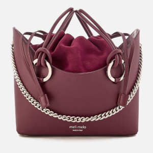 meli melo Women's Ornella Drawstring Tote Bag - Jupiter Burgundy