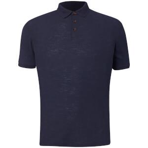 D-Struct Men's Slub Polo Shirt - Navy