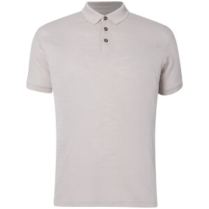 D-Struct Men's Slub Polo Shirt - Grey Marl