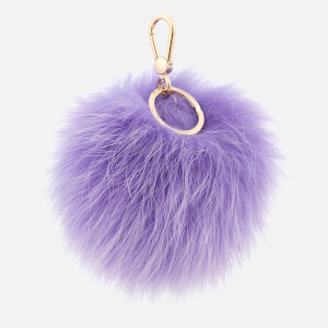 Furla Women's Bubble Pom Pom Keyring - Purple