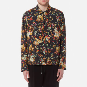 McQ Alexander McQueen Men's Nick Floral Blouson Jacket - Darkest Black