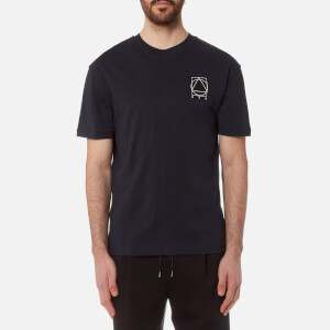 McQ Alexander McQueen Men's Inside Out Shield Logo T-Shirt - Ink