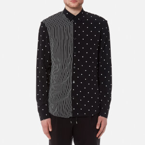 McQ Alexander McQueen Men's Sheehan Spots and Stripes Shirt - Darkest Black