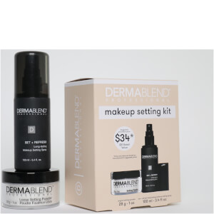 Dermablend Make Up Setting Gift Set with Setting Powder and Setting Spray - Limited Edition (Worth $51)
