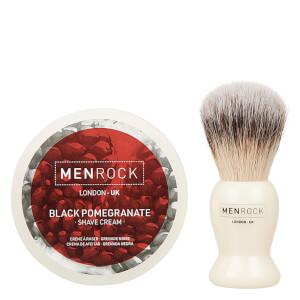 Men Rock The Life Shaver (Black Pomegranate Shave Cream, The Brush): Image 2